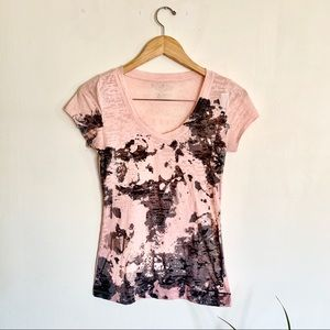 Maurices sheer short sleeve top